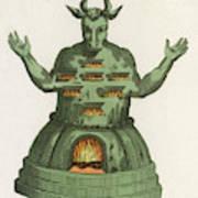 Moloch, The God Of The  Ammonites, An Art Print
