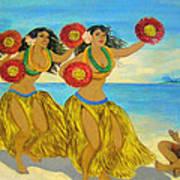 Moloka'i Hula 2 Art Print