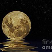 Molten Moon Art Print