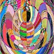 Mom Hugs Baby Crystal Stone Collage Layered In Small And Medium Sizes Variety Of Shades And Tones Fr Art Print