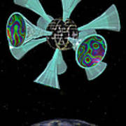 Momentary Sputnik 13  Art Print