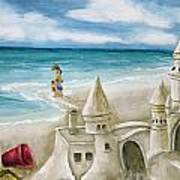 Mommy And Me Sandcastles Art Print