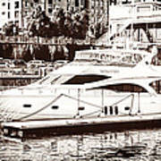 Momousse Yacht In Montreal Art Print