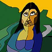 Mona Lisa Updated Art Print