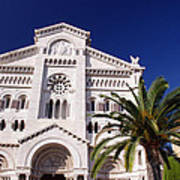 Monaco Cathedral Art Print