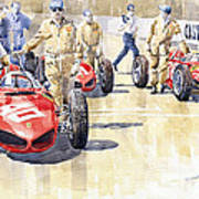 Monaco Gp 1961 Ferrari 156 Sharknose  Art Print