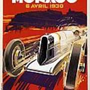 Monaco Grand Prix 1930 Art Print