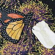 Monarch Butterfly On White Tulip Art Print by Lynda K Boardman