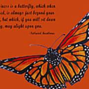 Monarch Butterfly Pismo Beach Art Print