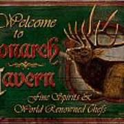 Monarch Tavern Art Print by JQ Licensing
