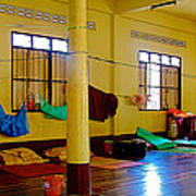 Monastery Dormitory In Tachilek-burma Art Print