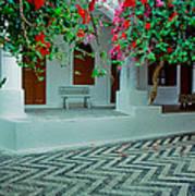 Monastery Symi Greece Art Print