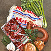 Monday's Tradition - Red Beans And Rice Art Print