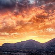 Mondello Sunset Art Print by Viacheslav Savitskiy