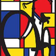 Mondrian Bike Art Print