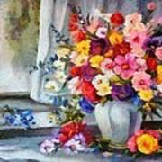Monet Floral Edged Art Print