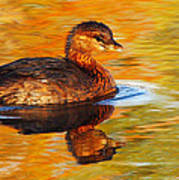 Monet Grebe Art Print