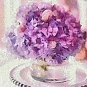 Monet Purple Pedestal Art Print