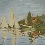 Monet Regattas At Argenteuil 1872 Art Print