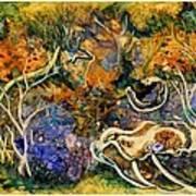 Monet Under Water Art Print