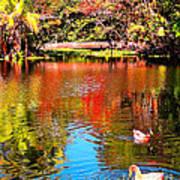 Monet's Garden In Hawaii 2 Art Print