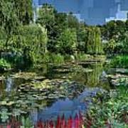 Monet's Lily Pond At Giverny Art Print