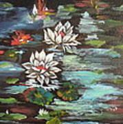 Monet's Pond With Lotus 1 Art Print