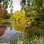 Monet's Water Garden 2 At Giverny Art Print