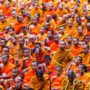 Monk Mass Alms Giving Art Print by Fototrav Print