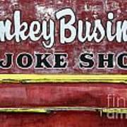 Monkey Business A Joke Shop Art Print