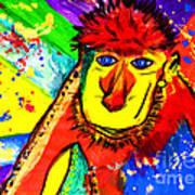 Monkey Pop Art Art Print