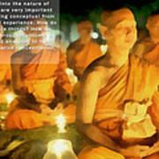 Monks In Meditation Art Print