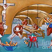 Monks Meal Art Print