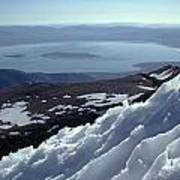 Mo-186-mono Lake From Mt. Dana In Winter  Art Print