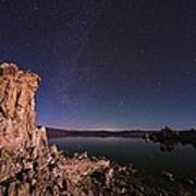 Mono Lake, Usa, At Night Art Print