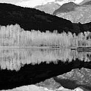 Mono One Mile Lake Art Print