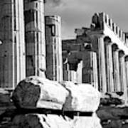 Mono Piles Of Stones Before Ruined Art Print