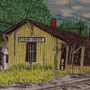Monon Clear Creek Indiana Train Depot Art Print