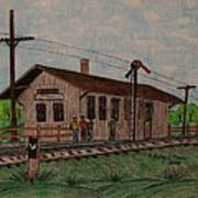 Monon Ellettsville Indiana Train Depot Art Print