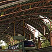 Monorail Depot Disneyland 01 Art Print