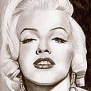 Monroe Art Print by Michael Mestas