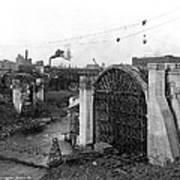 Monroe St Bridge Construction 1910 Art Print
