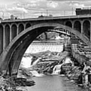 Monroe St Bridge Of Spokane Art Print