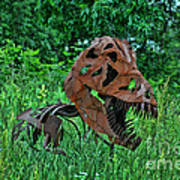 Monster In The Grass Art Print