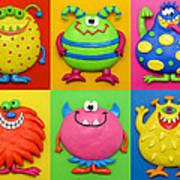 Monsters Art Print by Amy Vangsgard