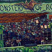 Monsters Of Rock Stage While A C D C Started Their Set - July 1979 Art Print
