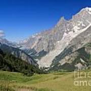 mont Blanc from Ferret valley Art Print
