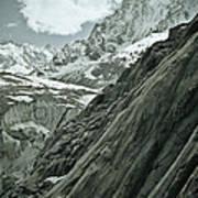 Mont Blanc Glacier Art Print