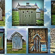Montage Of Outhouses Art Print