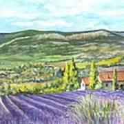 Montagne De Lure In Provence France Art Print